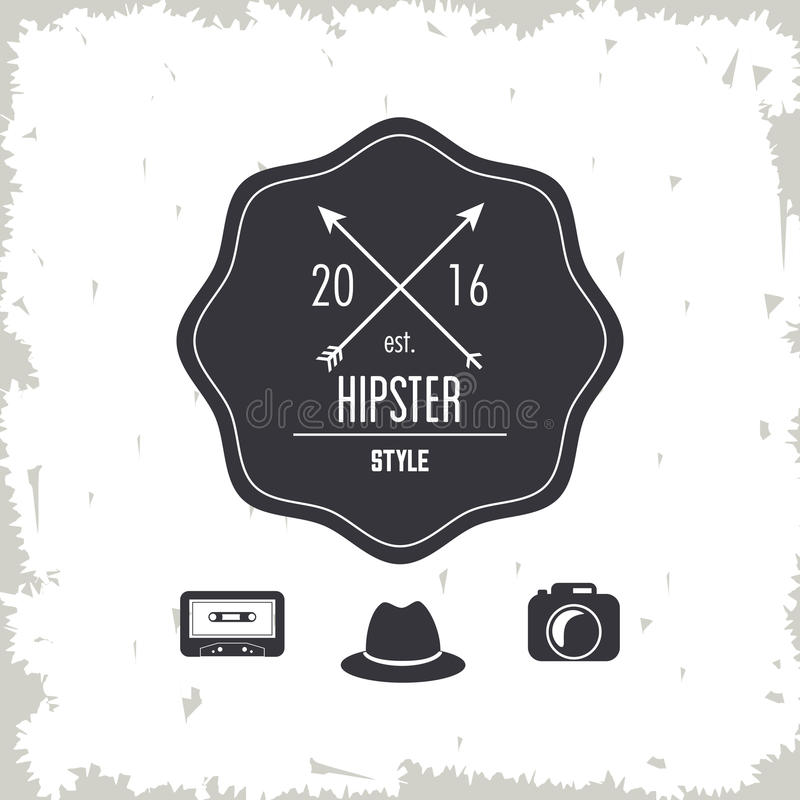 seal stamp icon. Hipster style design. Vector graphic royalty free illustration