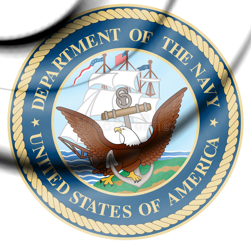 Seal Of The United States Department Of The Navy Stock Illustration