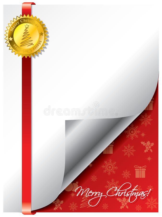 Download Sealed christmas greeting stock vector. Image of background - 17022063