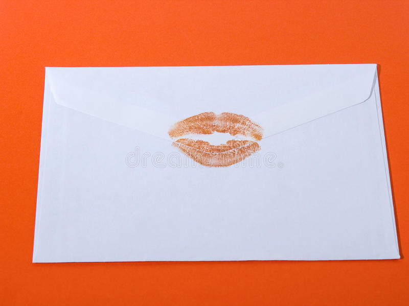 Sealed with a kiss royalty free stock photos