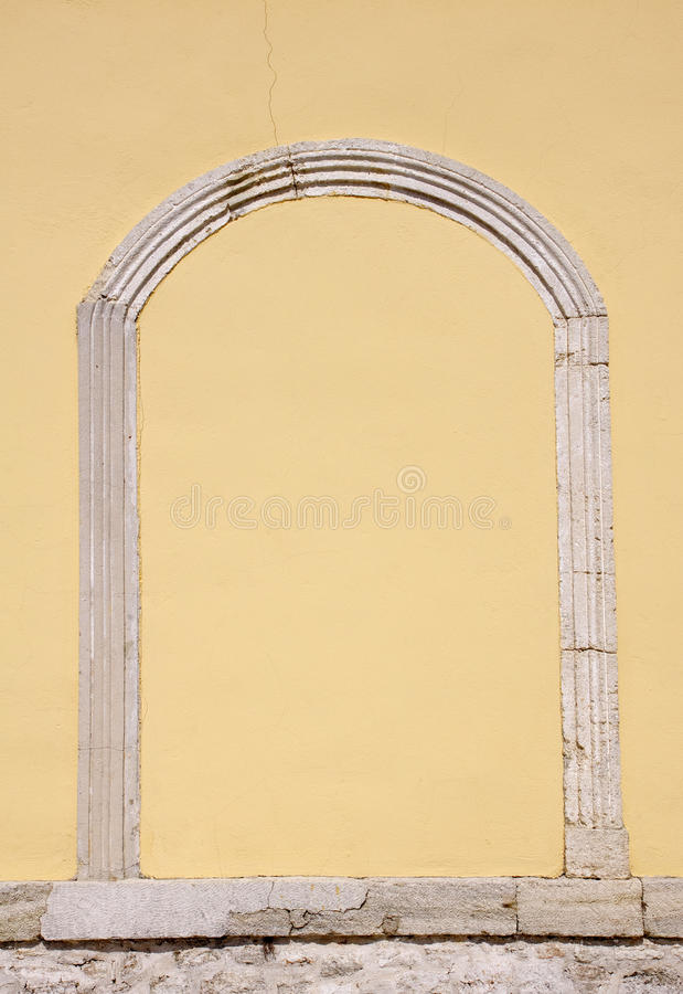 Sealed medieval stone arch door. On church, Bulgaria royalty free stock photo