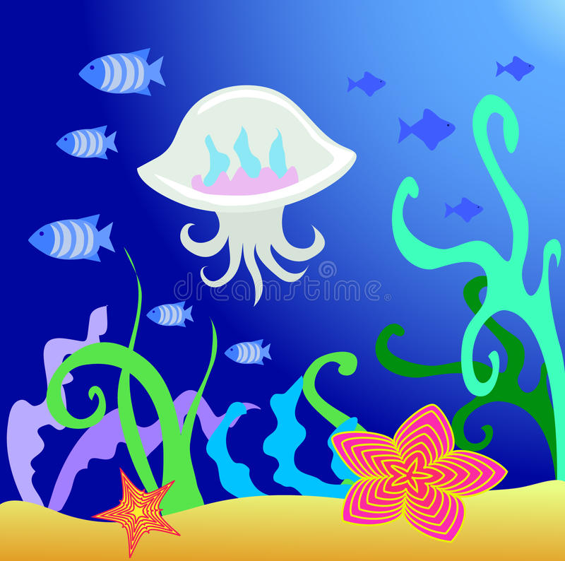 Download Sealife stock vector. Illustration of nature, decor, life - 13339037