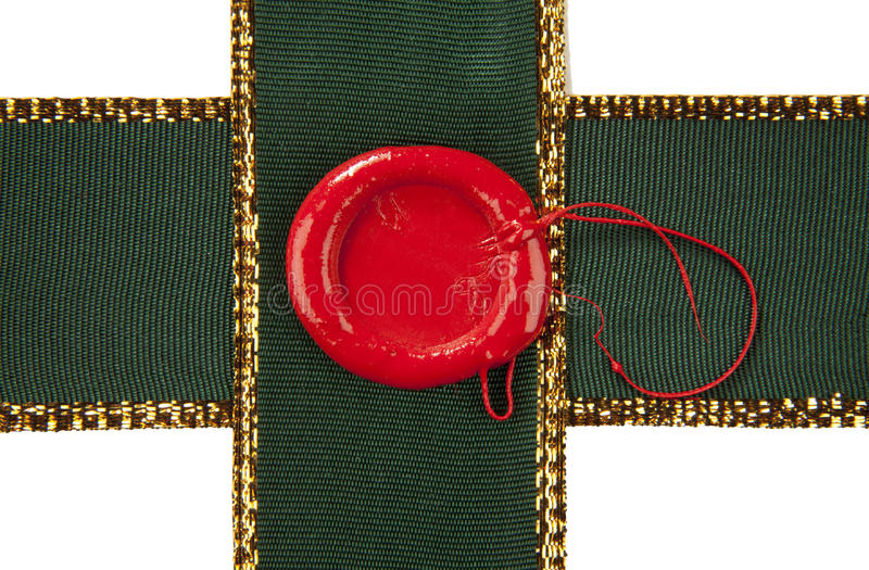Download Sealing wax with ribbons stock image. Image of insignia - 19798925
