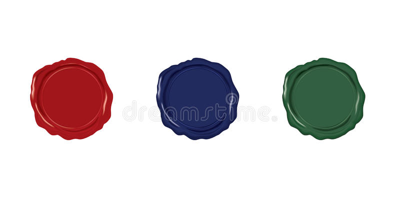 Download Sealing wax set stock illustration. Illustration of background - 11072027