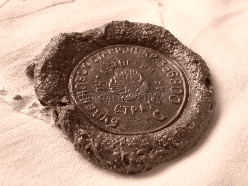 Download Sealing Wax Stamp Stock Photography - Image: 12345052