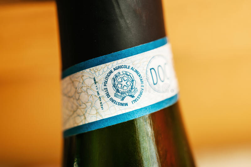 Seals and classifications for Italian wine royalty free stock photography