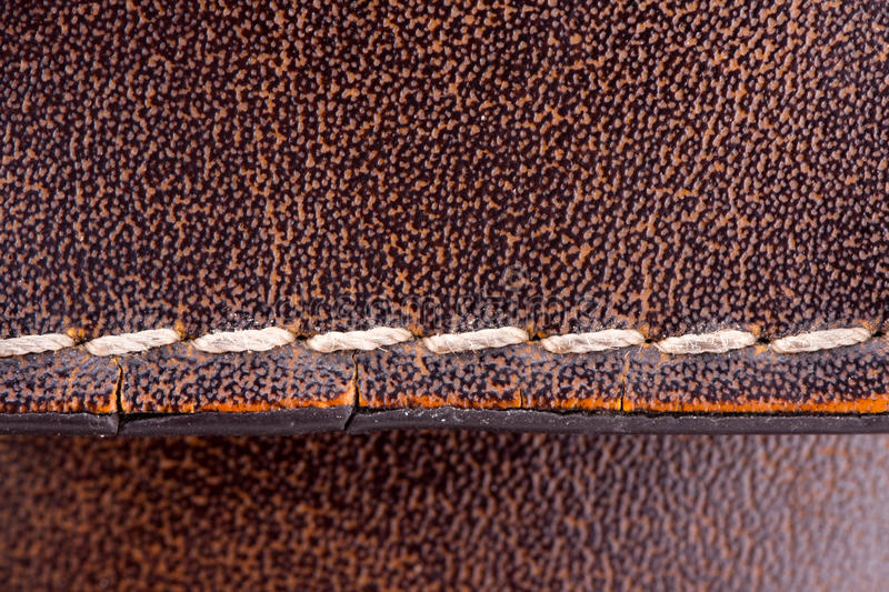 Download Seam on leather briefcase stock image. Image of fashioned - 18539589