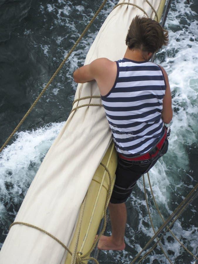 Free Seaman Working Aloft Royalty Free Stock Photography - 29787737