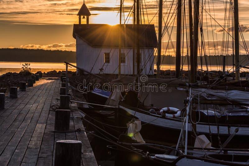 Seamen& x27 παρεκκλησι του s στον ήλιο πρωινού στοκ φωτογραφία