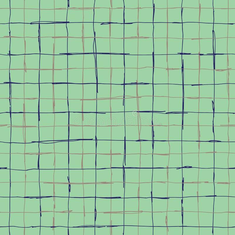 Seamlaess pattern design with artistic hand drawn lines stock illustration
