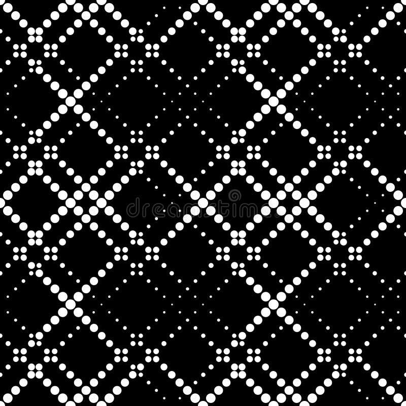Seamlees Monochrome Geometric Ornament. Vector Seamlees Monochrome Geometric Ornament stock illustration