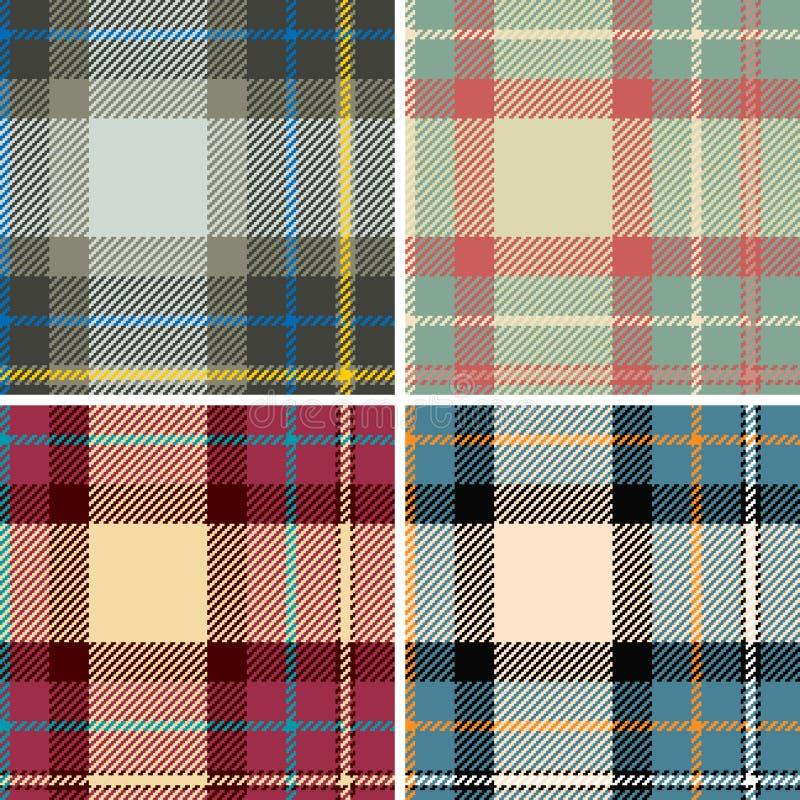 Seamles шотландки Стоковое Изображение RF