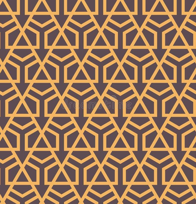 Seamles abstrakt geometrisk modell med sexhörningar och trianglar - vektor eps8 stock illustrationer