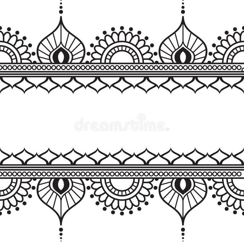 Seamles Border Pattern Elements With Flowers And Lace