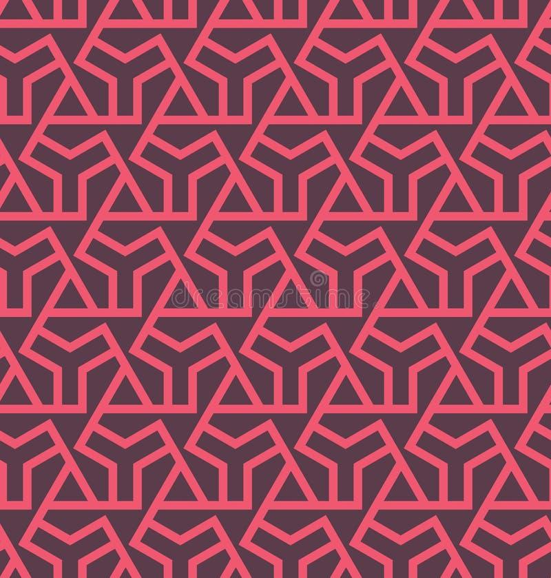 Seamles geometrisk abstrakt modell med sexhörningar och trianglar - vektor eps8 stock illustrationer