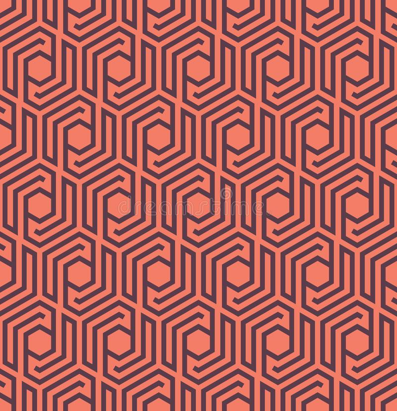 Seamles geometrisk modell med linjer och sexhörningar - vektor eps8 royaltyfri illustrationer