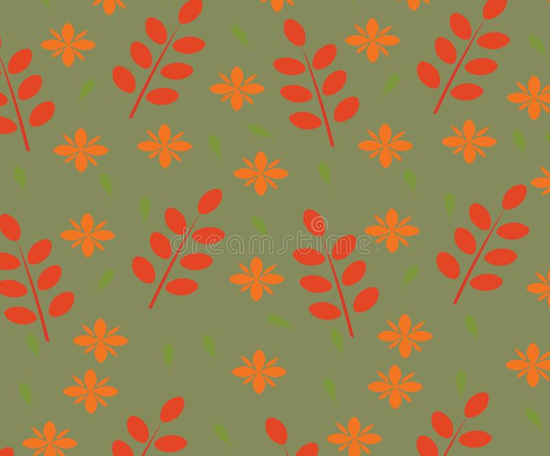 Seamles leaves pattern. Seamles autumn leaves pattern, vector vector illustration