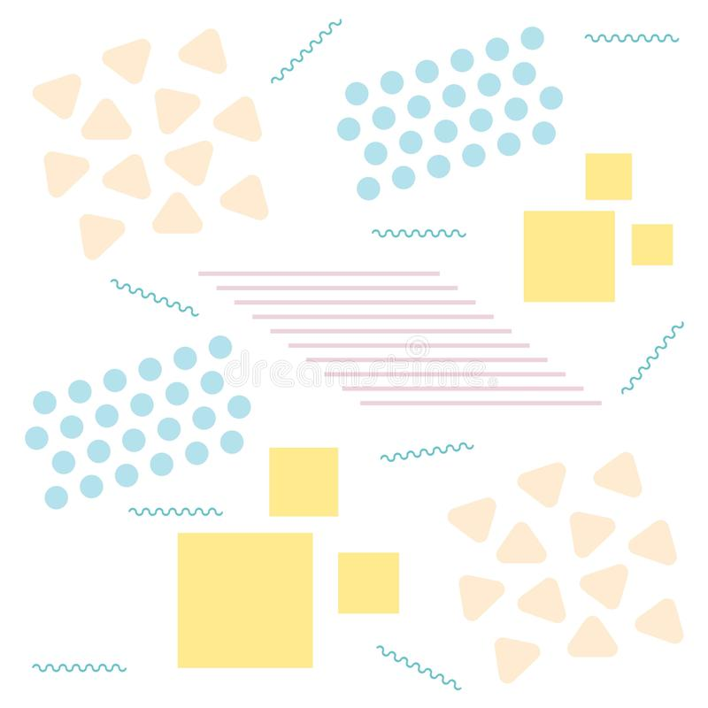 Seamles modelldesign med abstrakta geometriska former som upprepar belagd med tegel bakgrund Pastellf?rgad f?rg geometrisk bakgru vektor illustrationer