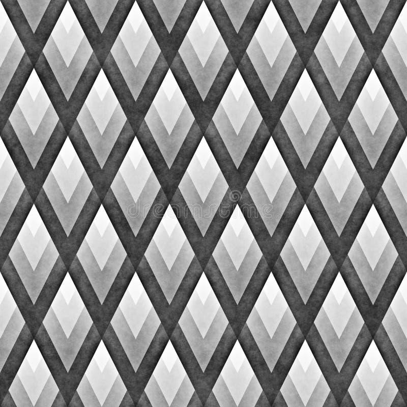Seamles Rhombus siatki Gradientowy wzór Abstrakcjonistyczny geometryczny tło projekt royalty ilustracja