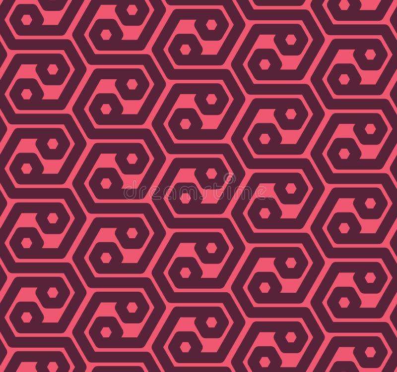 Seamles sexhörningar gör sammandrag den geometriska modellen - vektorn eps8 vektor illustrationer