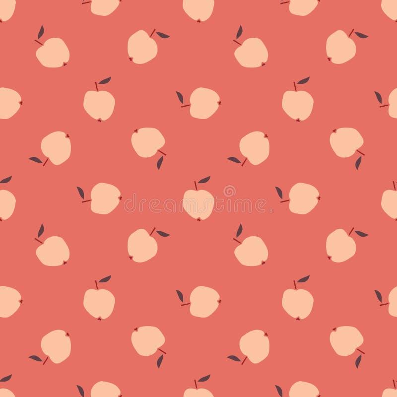 seamless äpplemodell royaltyfri illustrationer