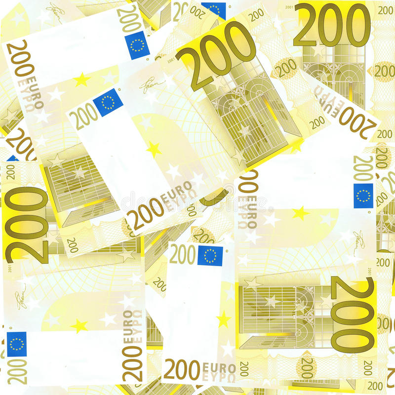 Download Seamless 200 Euro's Background Stock Illustration - Image: 25323030