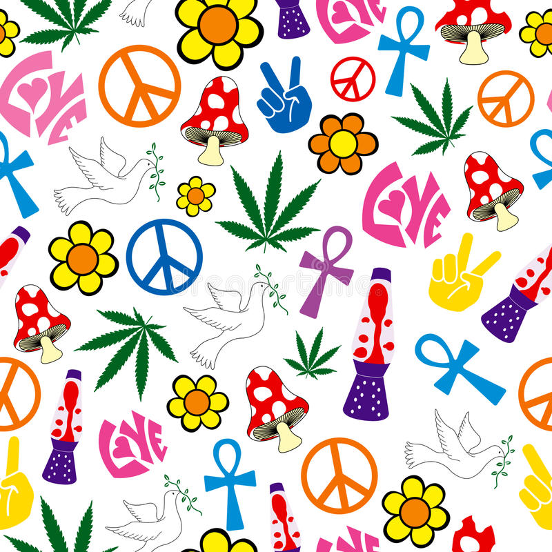 Free Seamless 60s Icons Background Stock Images - 10639694