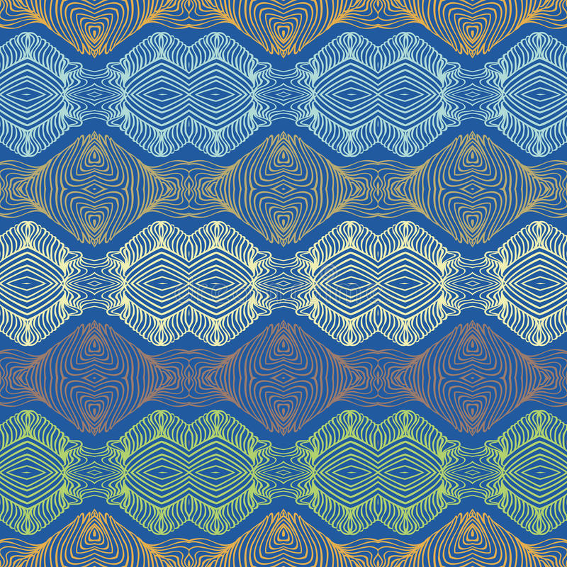 Download Seamless 70's Ethnic Wallpaper Or Textile Pattern Stock Vector - Illustration: 29290126