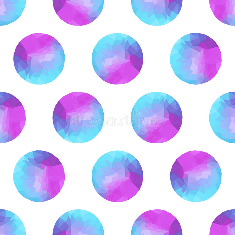 Seamless abstract background of colorful circles, polygonal design. vector illustration