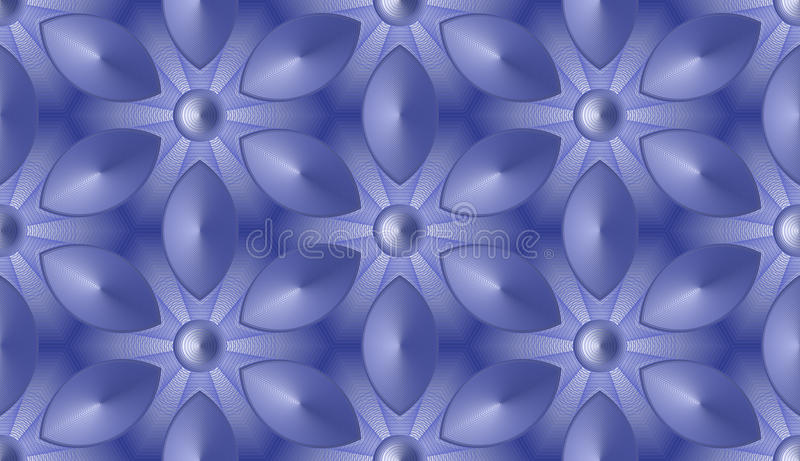 Seamless abstract background - fantastic flowers in hexagonal cells royalty free illustration