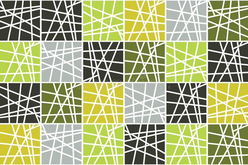 Seamless, abstract background pattern made with striped squares vector illustration