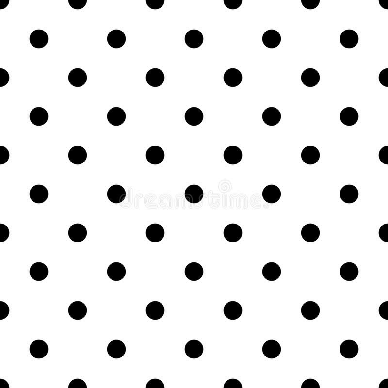 Seamless abstract black and white dot pattern - simple halftone vector background graphic from circles stock illustration