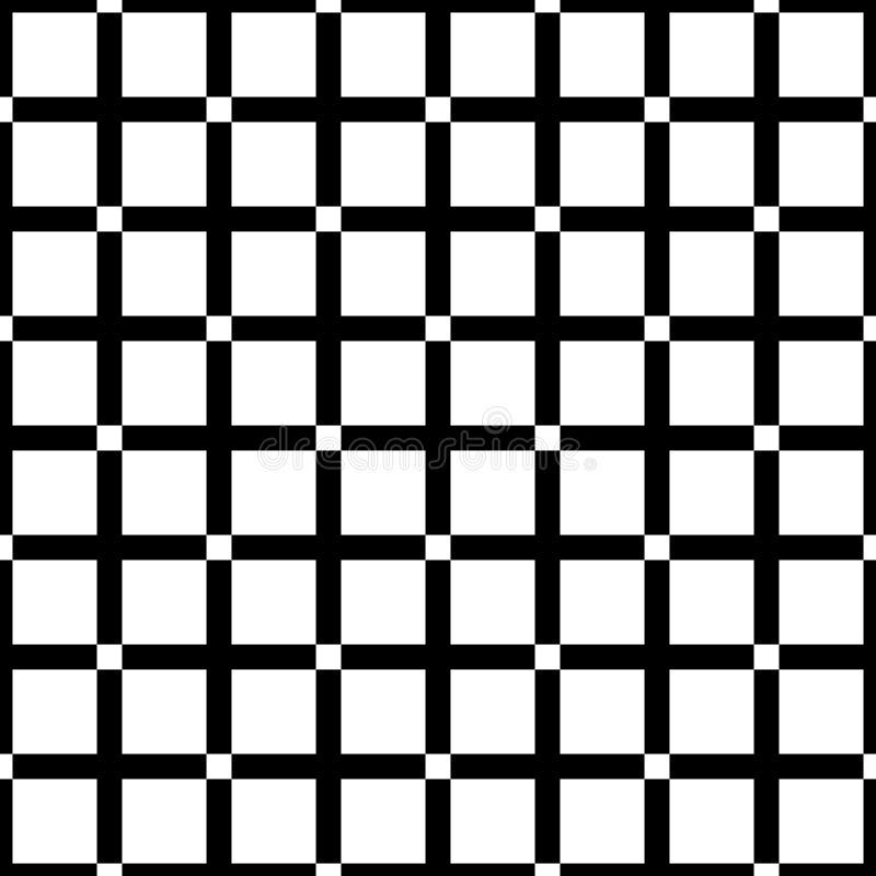 Seamless abstract black and white square grid pattern - halftone vector background design from diagonal rounded squares. Seamless abstract black and white square stock illustration