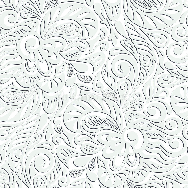 Download Seamless Abstract Curly Floral Pattern Stock Illustration - Image: 25702187