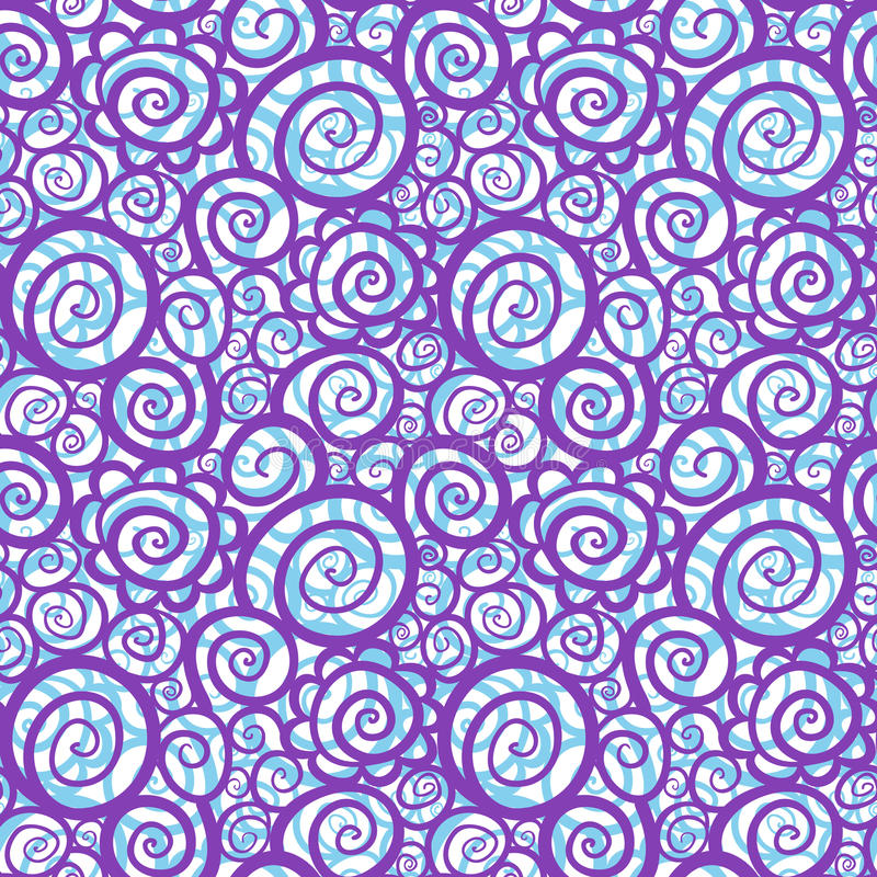 Download Seamless Abstract Curly Wave Pattern Royalty Free Stock Photography - Image: 24316157