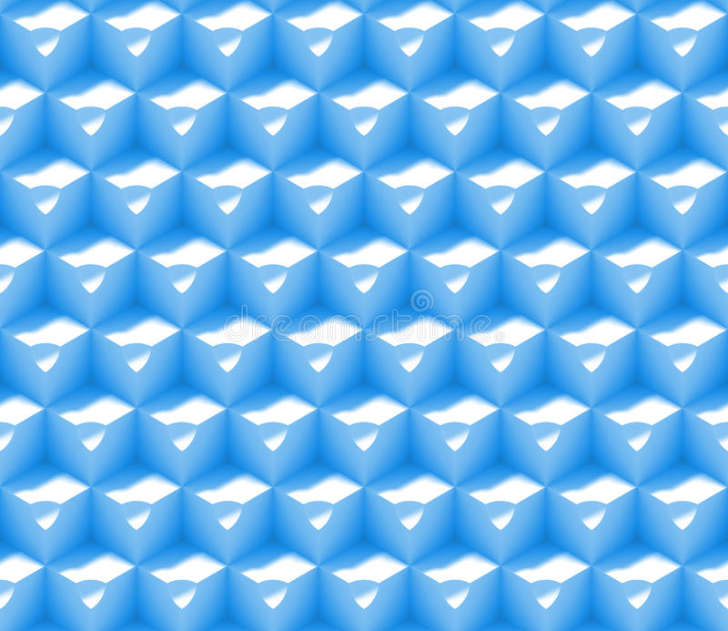 Seamless abstract 3d background pattern made of an array of cubes with dimples in blue and white vector illustration