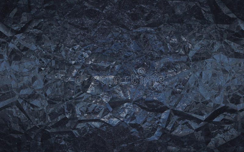 Seamless abstract dark blue rocky background stock image