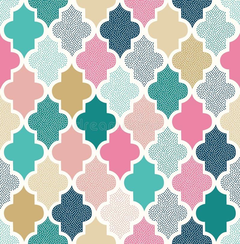 Seamless abstract dots pattern vector illustration