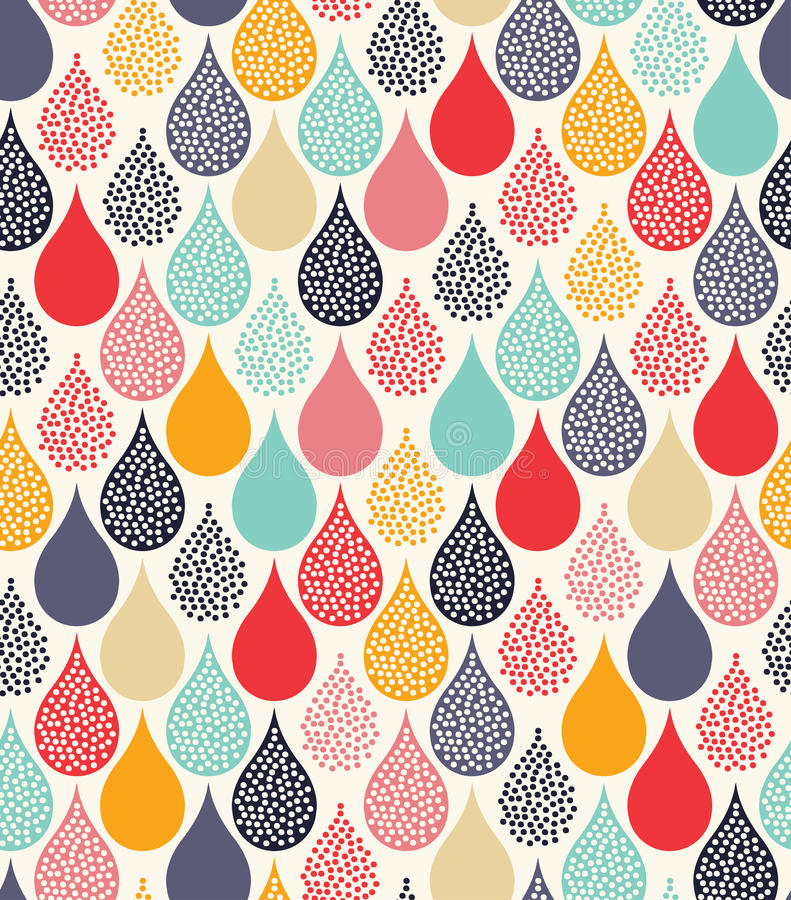 Seamless abstract dots pattern stock illustration