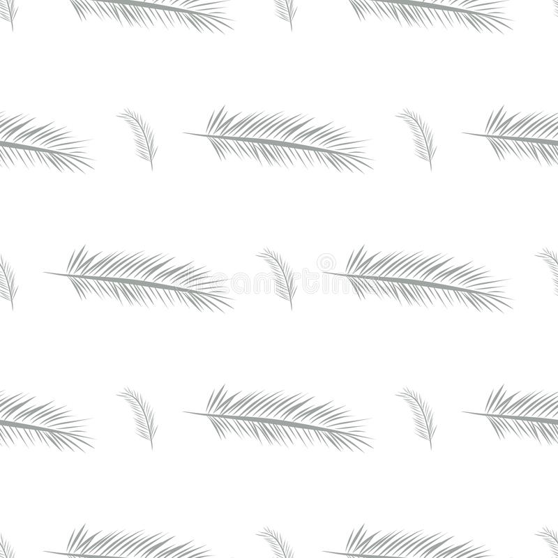 Seamless abstract feather illustrations background. Design, messy, creative & template. vector illustration