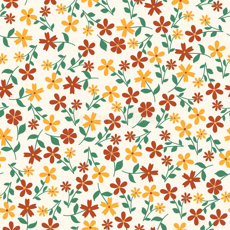 Seamless abstract floral pattern vector illustration