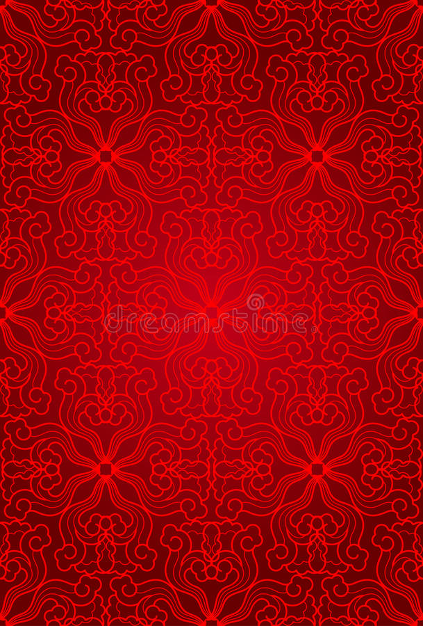 Download Seamless Abstract Floral Pattern Background, Red Stock Vector - Illustration of ornament, happiness: 28564155