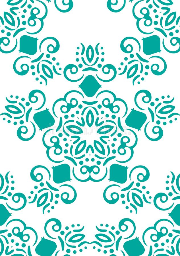 Seamless abstract floral pattern. White vector background. Geometric leaf ornament. Graphic modern pattern royalty free illustration