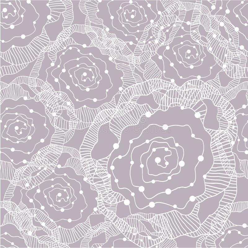Seamless abstract flower pattern vector illustration