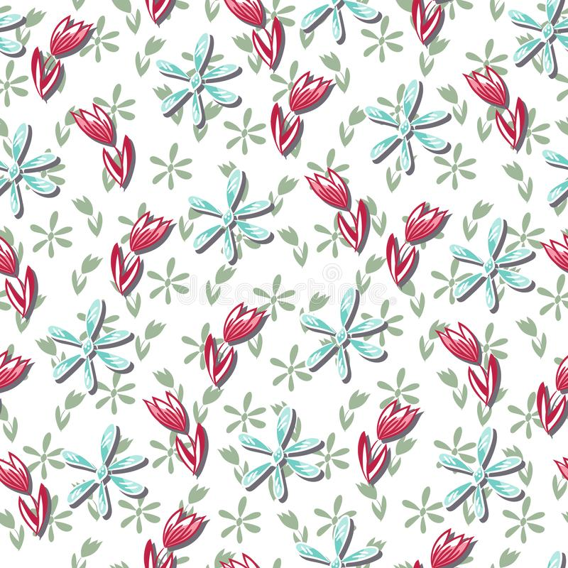 Seamless abstract original floral multicolored pattern stock photo