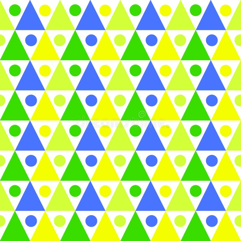 Triangles balls pattern seamless background vector illustration