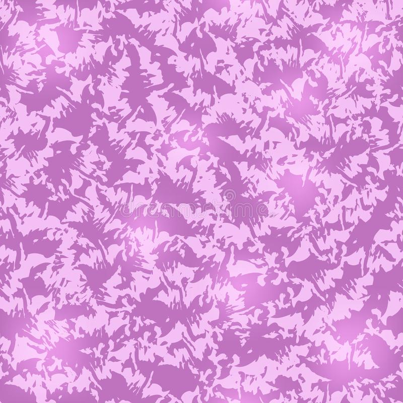 Seamless abstract fuchsia pattern with pink, crumpled fabric, twisted and dyed fabric, degrade royalty free illustration