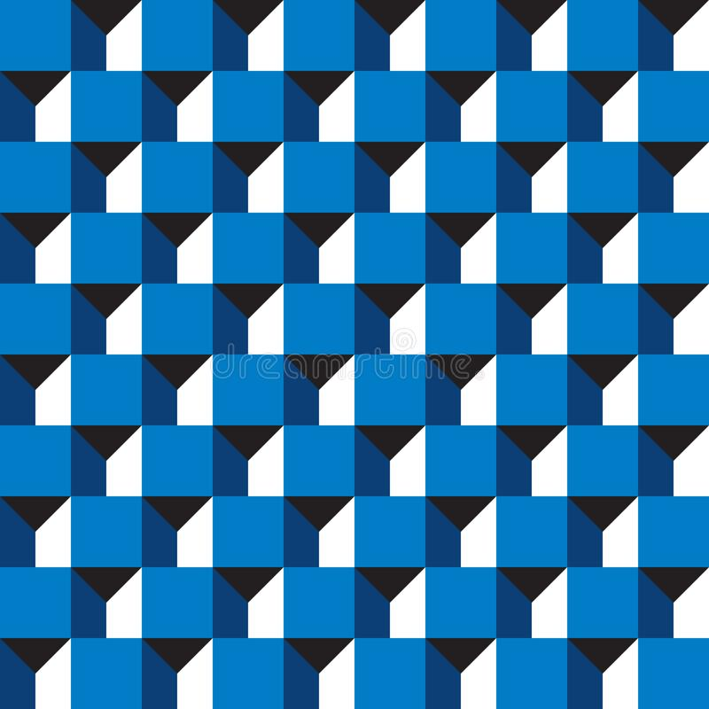 Free Seamless Abstract Geometric 3d Block Building Pattern Background Stock Photography - 124380482