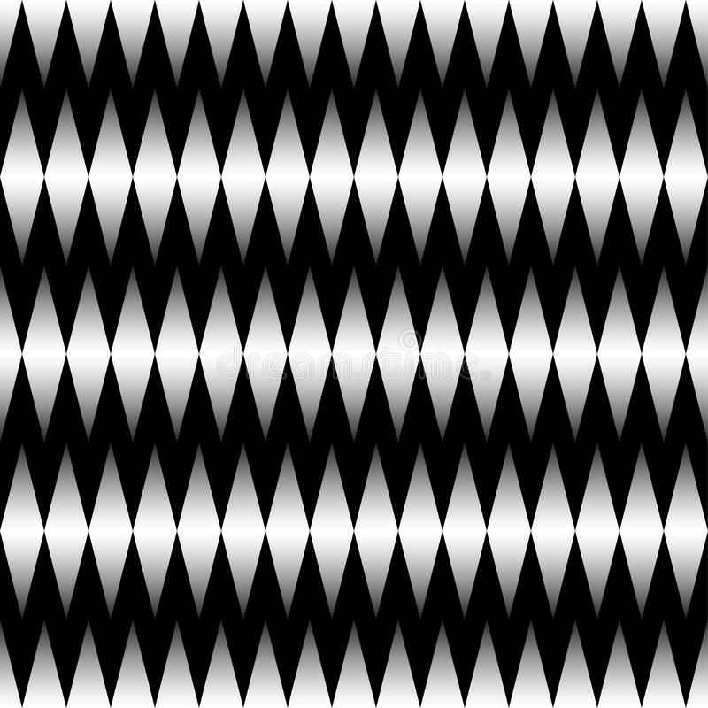 Seamless abstract geometric decorative background. Black and White pattern stock illustration
