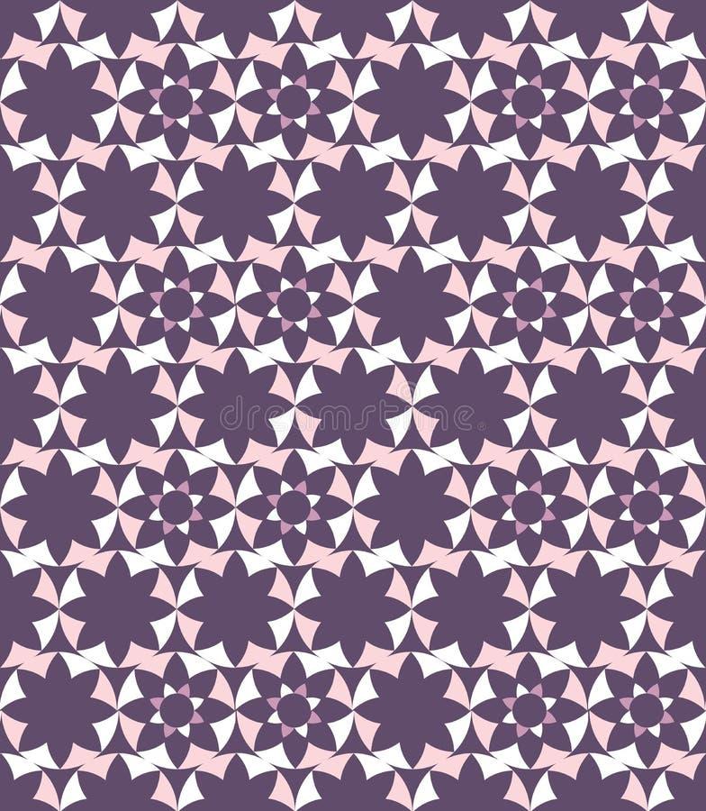Seamless abstract geometric decorative background stock illustration